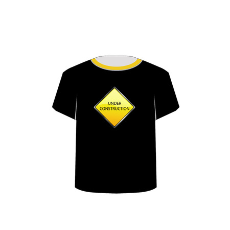 T Shirt Template- under construction Illustration