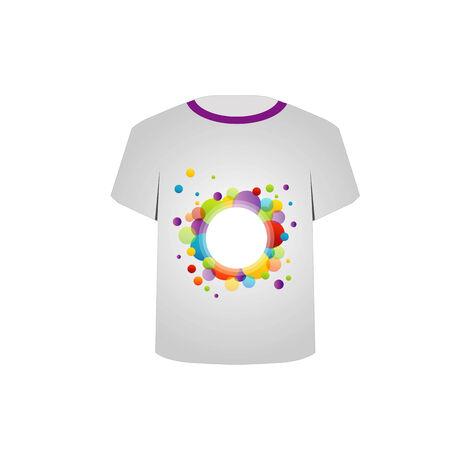 T Shirt Template-fractal circles Illustration