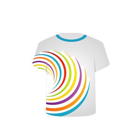 Druckbare T-Shirt Grafik- fraktale Kunst Standard-Bild - 26466575