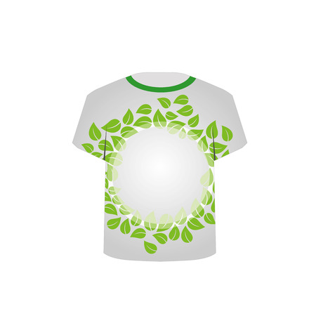 tees graphic tees t shirt printing: T Shirt Template-shoe with green leaves