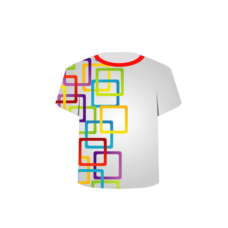 Printable tshirt graphic- artwork with colorful boxes