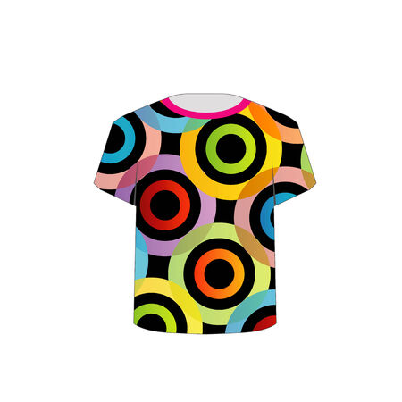 tees graphic tees t shirt printing: T Shirt Template- fractal rings Illustration