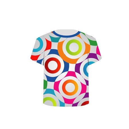 T Shirt Template- fractal rings Illustration