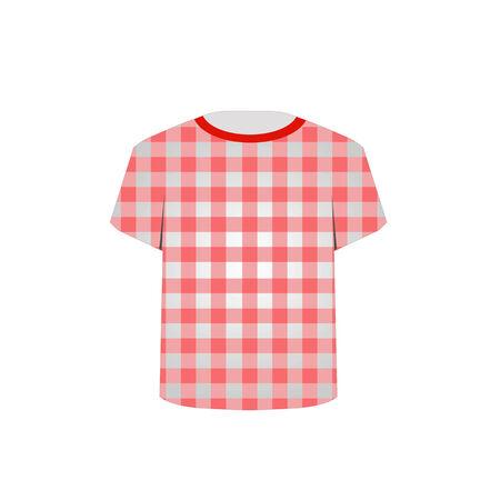 gingham pattern:  T Shirt Template- Gingham pattern Illustration