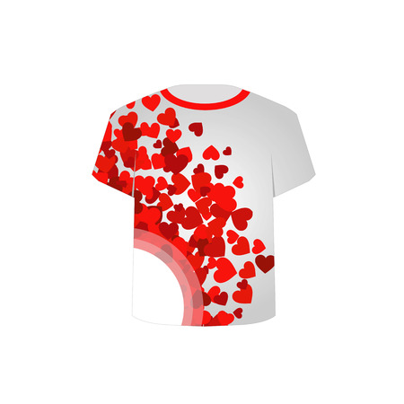 tees graphic tees t shirt printing: T Shirt Template- Red Hearts