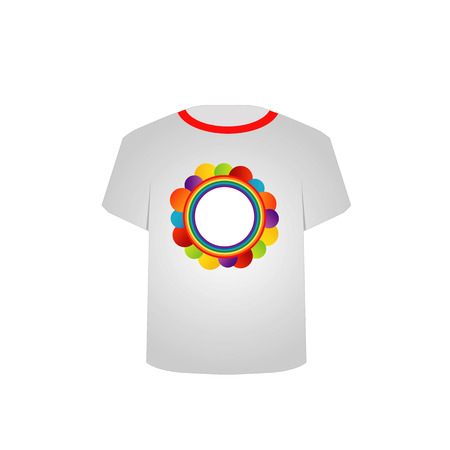 tees graphic tees t shirt printing: T Shirt Template-fractal rings Illustration
