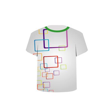 T-Shirt-Vorlage bunten Blöcken Standard-Bild - 26354770