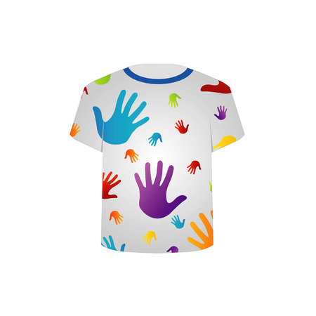 T-Shirt Schablone Pop-Art-Grafik Standard-Bild - 26354775