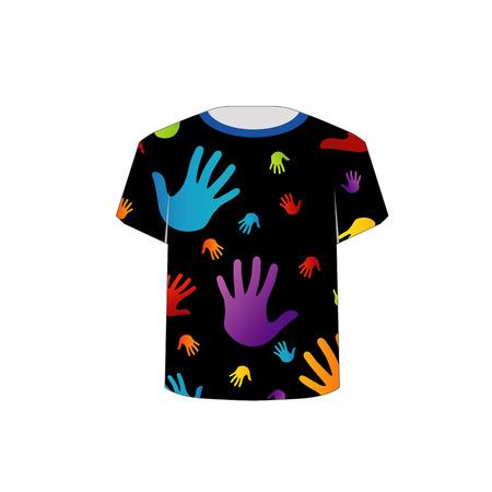 T Shirt Template- Pop art graphic Vector