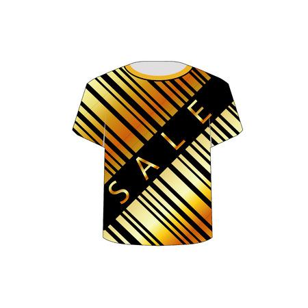 T-Shirt Schablone Verkauf Barcode Standard-Bild - 26354788