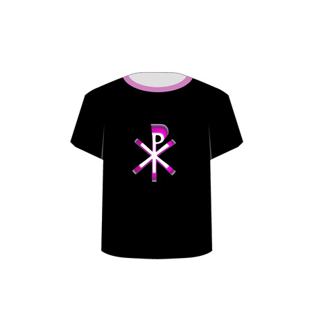baptize: T Shirt Template- Monogram of Christ