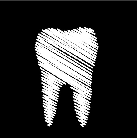 Tooth graphic for dentist Vector