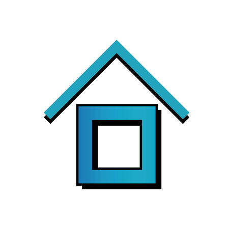 House with a roof icon Vector