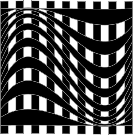 Optical illusion background Stock Vector - 27483877