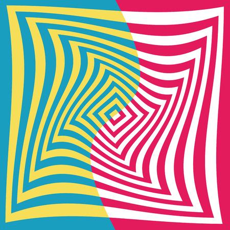 Optical illusion background  Vettoriali