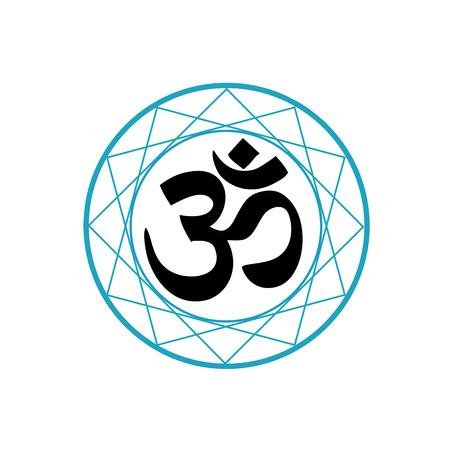 hypnotism: S�mbolo religioso del hinduismo-Pranava Vectores