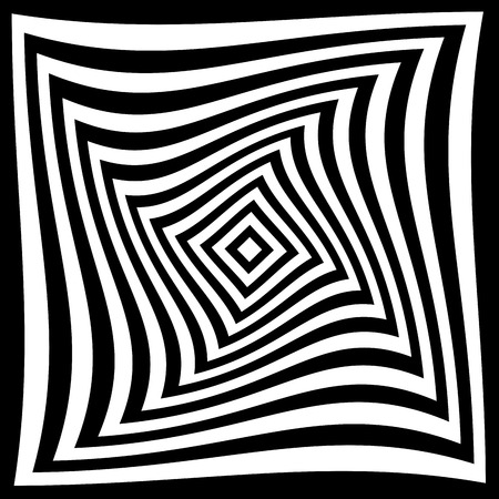 Optical illusion for hypnotherapy or psychic  Vector