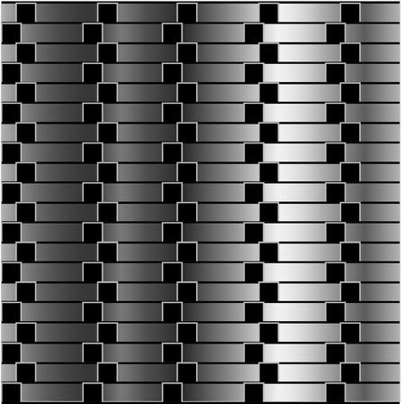 Optical illusion against metallic gradient