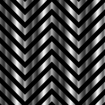 third eye: Optical illusion with metal bars and zig zag lines Illustration