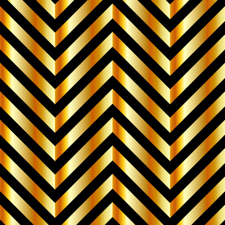 Optical illusion with gold bars and zig zag lines