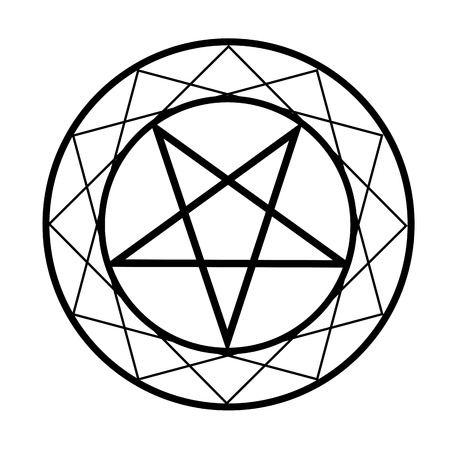 Pentacle Religious Symbol Satanism Royalty Free Cliparts Vectors