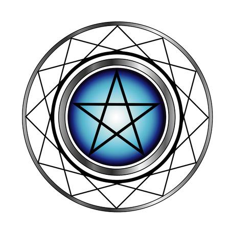 neopagan: Pentacle- Religious symbol satanism