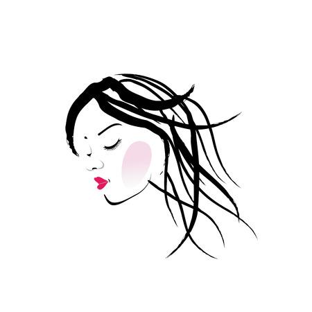 long eyelashes: A lady with dreadlocks- dreadlock fashion graphic