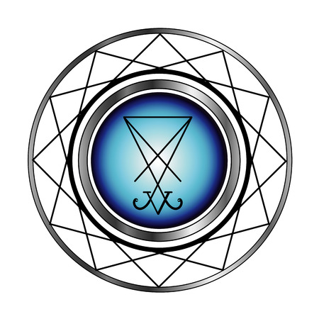 religious icon: Sigil Of icono Lucifer-religiosa por el satanismo