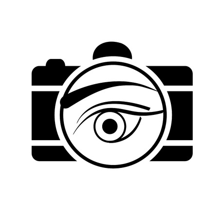 focal point: Digital Camera with an eye Illustration
