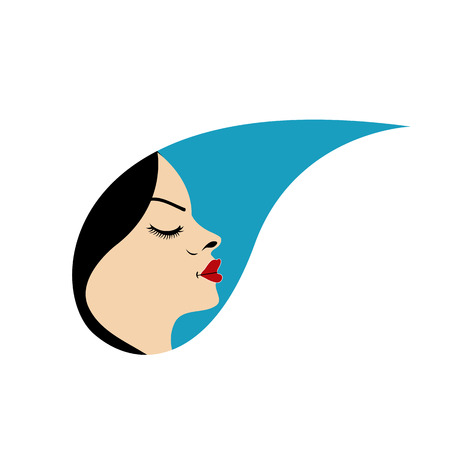 Beautiful woman in a droplet Vector
