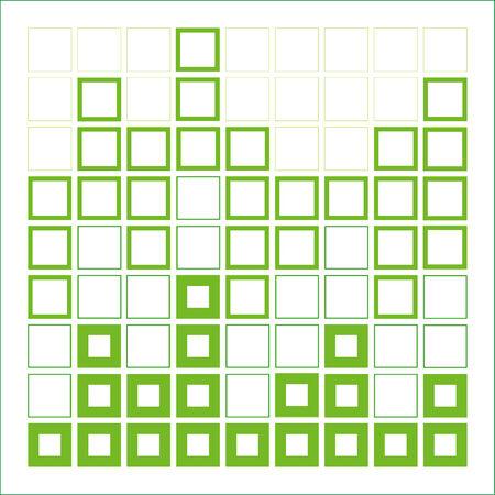 Abstracte compositie met vierkantjes-architectonisch ontwerp element Stock Illustratie