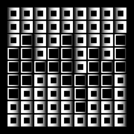 Abstract composition with squares-architectural design element
