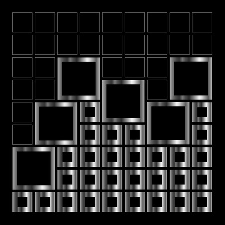 sheer: Abstract composition with squares Illustration