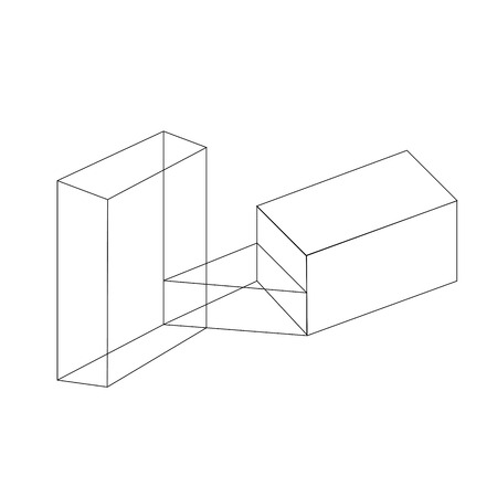 Isometric objects in axonometric view
