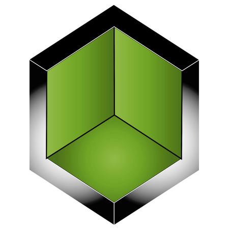 Isometric section of 3d space Vector
