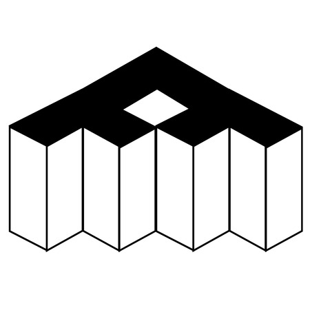 rebuild: Isometric object - architectural 3d object axonometric view