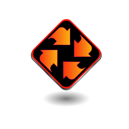 Symbol with arrows pointing in different direction