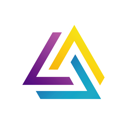 Abstract triangular colorful logo or design element Vector