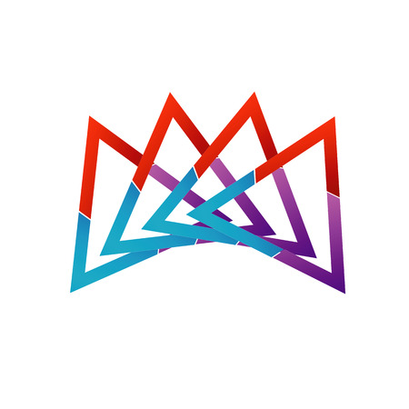 Abstract triangular colorful icon