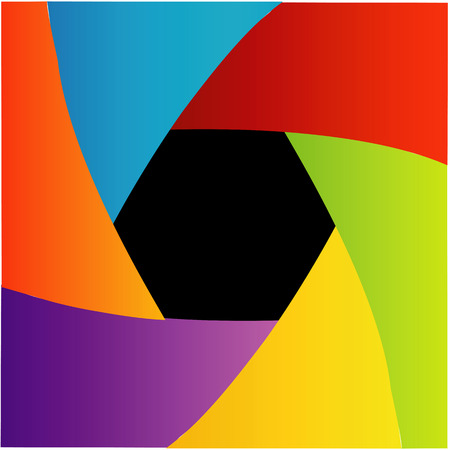 Colorful Shutter aperture background or design element Vector