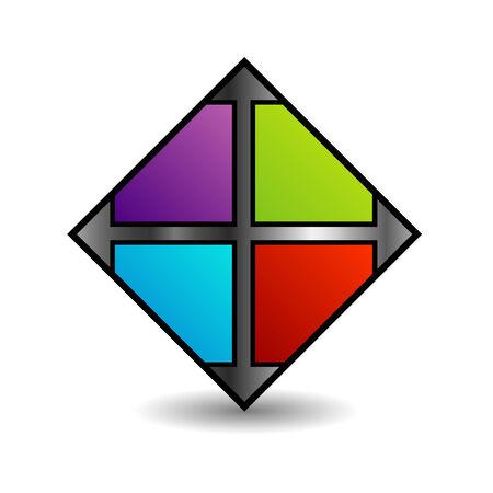 floor tile business icon in multicolor Ilustração