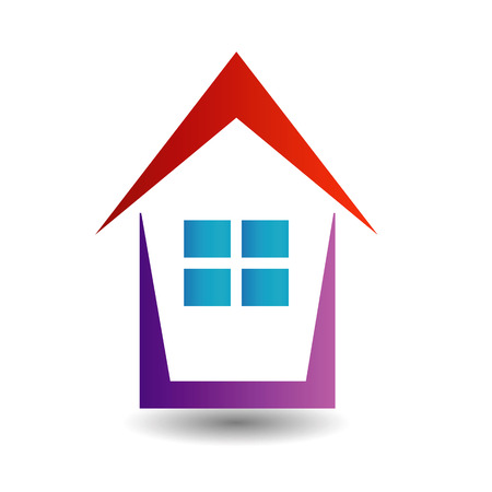 icon showing growing real estate market in different colors Vector