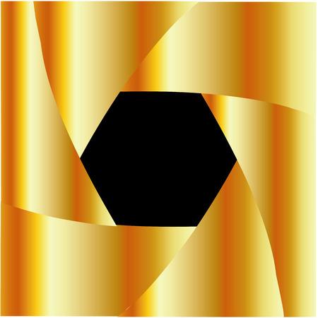 Golden shutter background