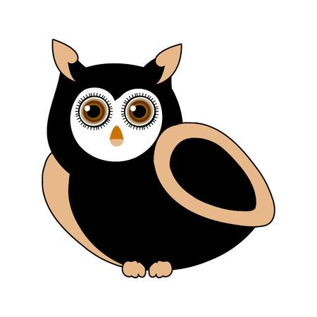 owl- bird of prey Vectores