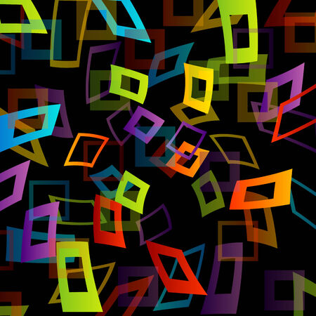 Background with colorful squares Vector