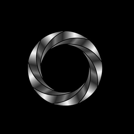 diafragma- fotografie logo Stock Illustratie
