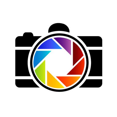 虹色の写真  イラスト・ベクター素材