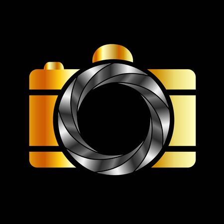 Camera with silver aperture Illustration