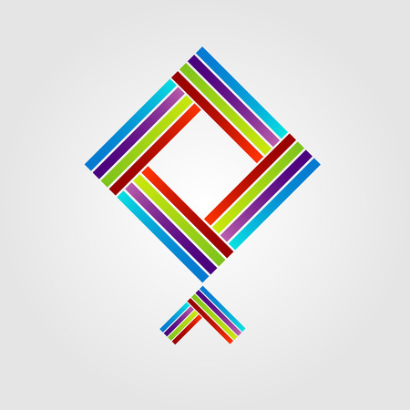 personality development: Abstract kite shaped icon for business Illustration