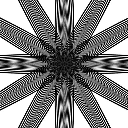 optical: Abstract striped warped optical illusion Illustration